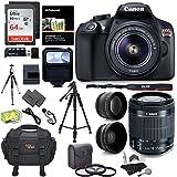 Canon EOS Rebel T6 Digital SLR Camera Kit + EF-S 18-55mm f/3.5-5.6 IS II Lens + Pro .58x & 2.2x Lenses + Lexar 48GB Memory + 57'' Tripod + Canon 100ES Case + Polaroid Accessory Bundle