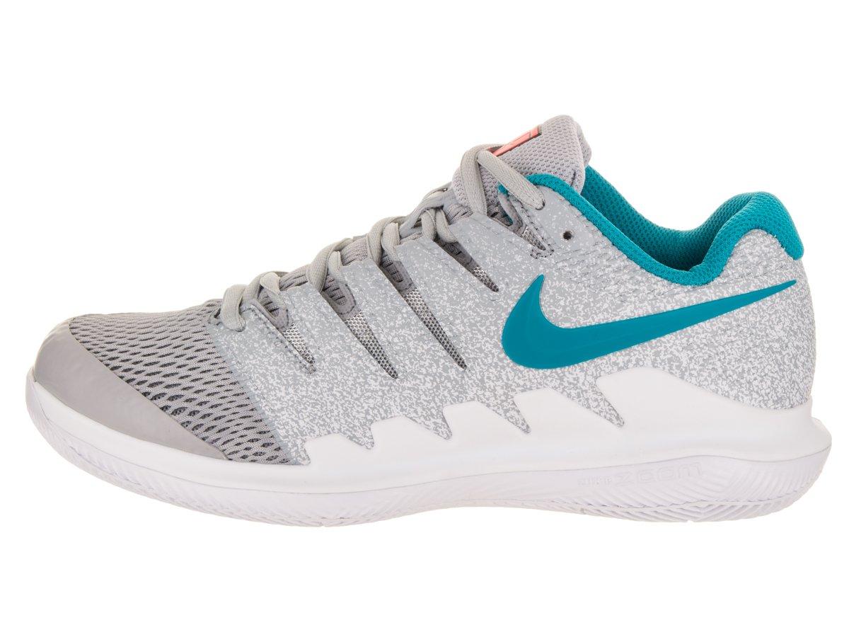 NIKE Women's Air Zoom Vapor X HC Tennis Shoes B0761YSKB3 6 B(M) US|Wolf Grey/Blue Nebula/Hot Lava/White