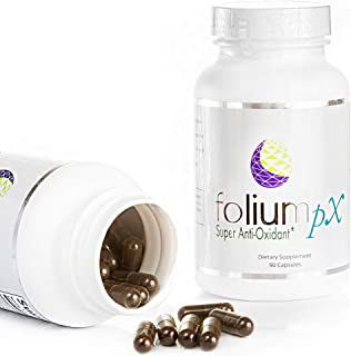 product image for Folium pX Immune System Support, Full Body Cleanse, Heavy Metal Detox, Mercury, Lead, Arsenic, Barradium, Gadolinium, Cadmium Poisoning, Super Antioxidant Supplement, Pine Bark, Grape-Seed Extract