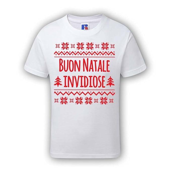 Pubblicita Buon Natale Numero 7.T Shirt Bimbo Maglia Maglietta Bambino Idea Regalo Di Natale Buon