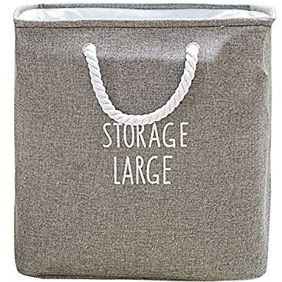 APSOONSELL Large Square Collapsible Laundry Hamper Basket - Grey - L -  - laundry-room, hampers-baskets, entryway-laundry-room - 610fiSbdYML. SS400  -