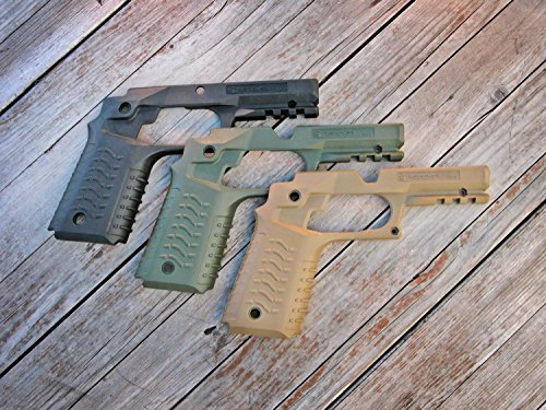 (Recover CC3 H 1911 Grip & Rail System, Olive Drab, Universal)