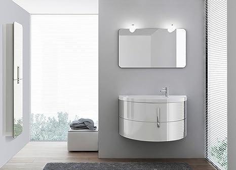 Mobili Da Bagno Bianco Lucido : Mobile bagno sospeso bianco e nero mobile bagno sospeso bianco