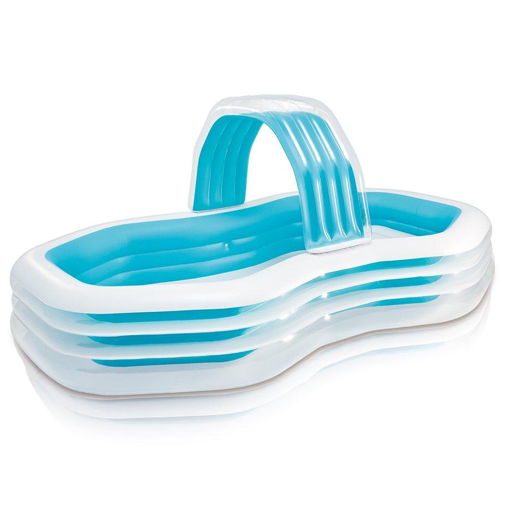 Intex Family Cabana Swim Center Pool, 122'' x 74'' x 51'', for Ages 3+