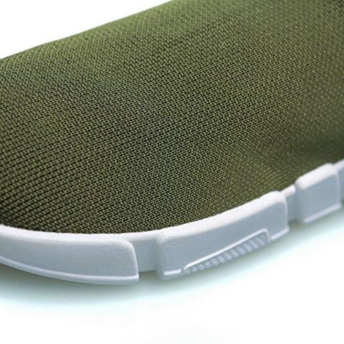 Palestra Corsa MForshop calzino Donna No Militare Lacci Scarpe Ginnastica Uomo Sneakers Verde K3600 zz4wq