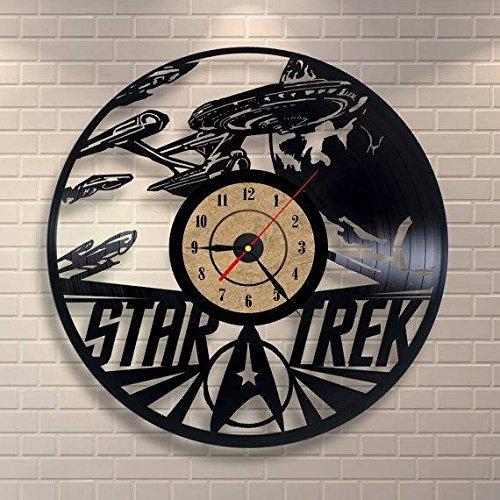 Fun Door Star Trek HANDMADE Vinyl Record Wall Clock – Perfect gifts for birthday wedding anniversary valentine's mother's father's day - Gift ideas for men and women him and (Star Trek Costume Designer)