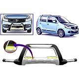 Auto Pearl - Premium Quality Car Fiber & Stainless Steel Front Crash Blaze Guard With Fitting Kit For - Maruti Suzuki WagonR -FG027