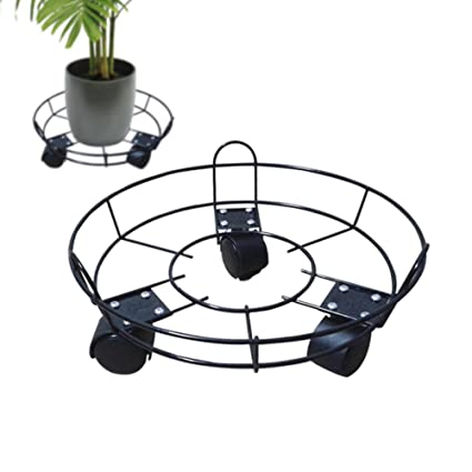 Amazon Com Plant Caddy Potted Plant Stand With Wheels Round Flower