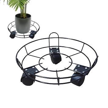 Soporte para plantas con ruedas redondas para macetas, con ruedas y rodillos, para macetas: Amazon.es: Jardín