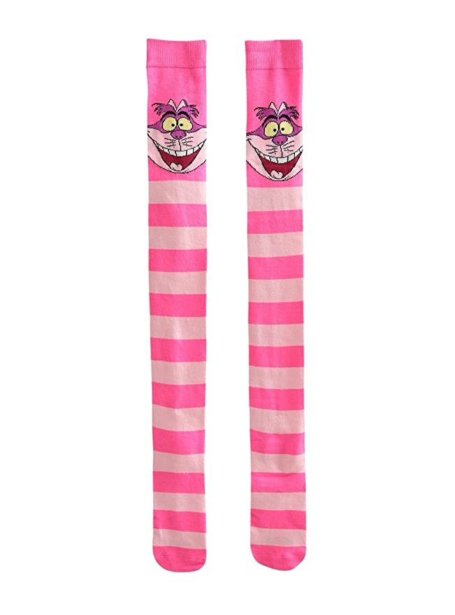 Amazon.com: Disney Alice In Wonderland Cheshire Cat Over-The-Knee Socks: Clothing