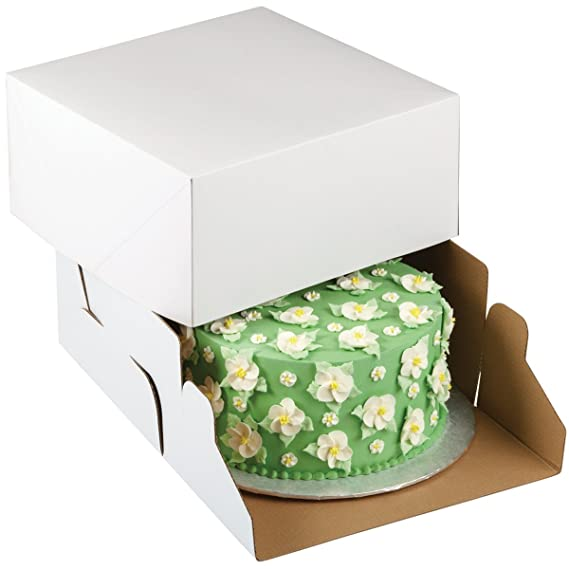 Amazon.com: Wilton White Square Corrugated Cake Box, 2-Count: Kitchen & Dining