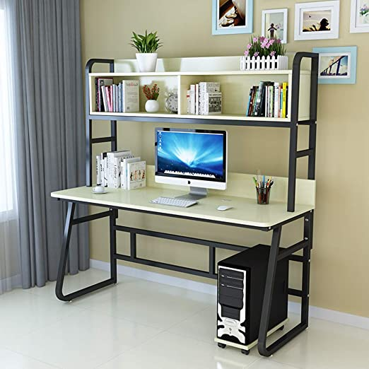 Ncloyn Mesa Pc Mesa De Oficina con Estantes C 100x60x164cm: Amazon ...