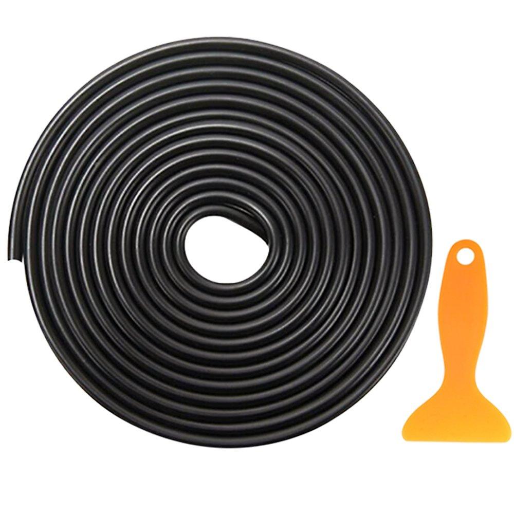 Psmgoods® auto protezione bordo sportello gomma modanatura scratch Protector striscia adesiva 5m