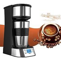 Pyrus Coffee Maker, Single Cup Coffee Coffee Maker Personal One Cup con Coffee Cup Viajes Coffee Dripper Coffee Brew con café molido o Coffee Pods (Single Cup)