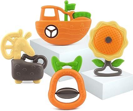 6Pcs Baby Infant Handbell Developmental Spin Shaking Bells Kids Grab Toy Rattle