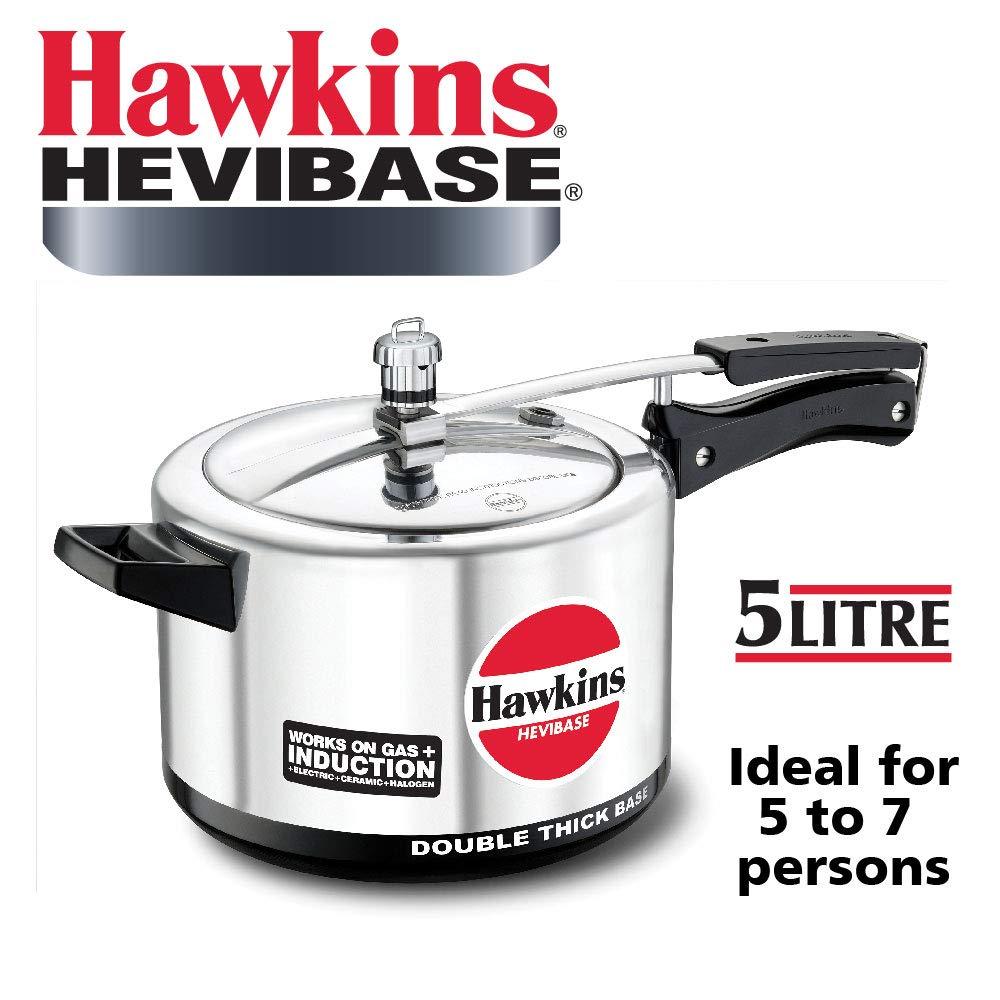 Hawkins Hevibase Aluminum Induction Model Pressure Cooker, 5 litres product image
