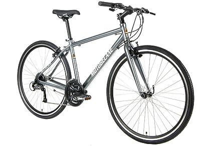 05abd8d0881 Motobecane 2018 Cafe Latte Aluminum Flat Bar Road Fitness Hybrid Bicycle  Full Shimano Drivetrain (Dark