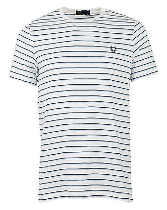 179168fac Amazon.com  Fred Perry Men s Fine Stripe T-Shirt M5573 129 White XL   Clothing