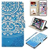 UrSpeedtekLive iPhone 6S Plus Case, iPhone 6 Plus Case, Premium PU Leather Flip Wallet Case Cover with Card Slots Holder & Stand For Apple iPhone 6s Plus/6 Plus, Flower