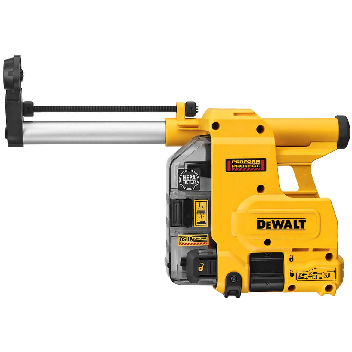 """DEWALT DWH304DH Onboard Dust Extractor for 1-1/8"""" SDS Plus Hammers"""