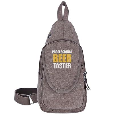 PROFESSIONAL BEER TASTER Fashion Men's Bosom Bag Cross Body New Style Men Canvas Chest Bags