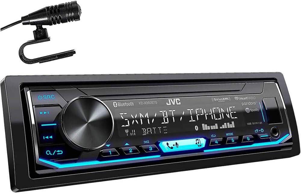 JVC KD-X350BTS 1-Din Car Stereo