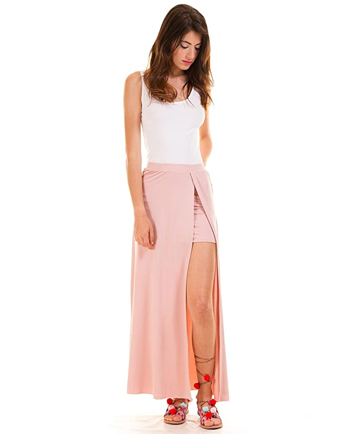 Vila Vimunik Maxi Skirt Rosa  Amazon.es  Ropa y accesorios f8b989036f31