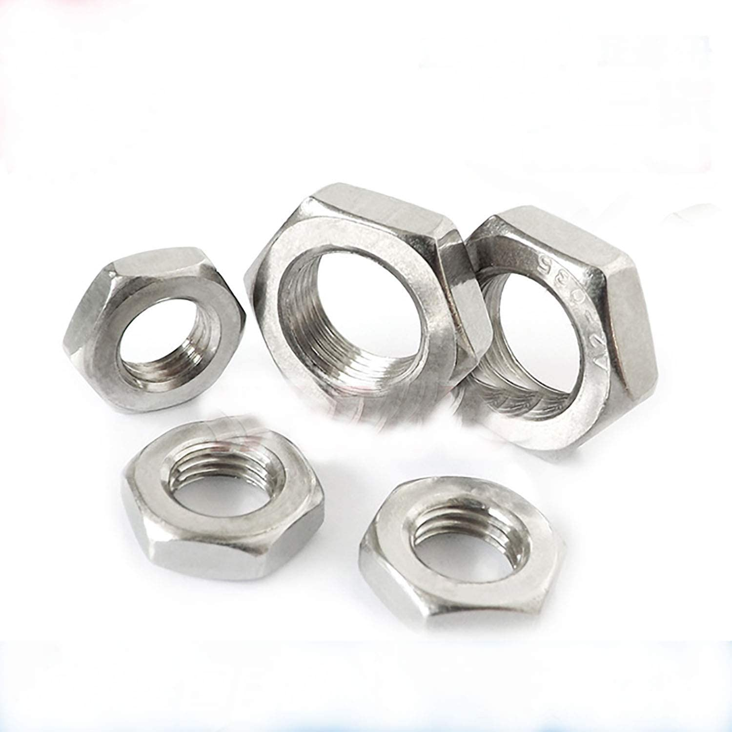Smartsails 1//4-20,5//16-18 Stainless Steel Surface Hexagon Thin Nuts 100 Pieces 304 Stainless Steel Nuts