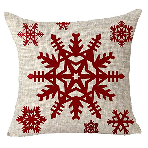 Happy winter red snowflake Merry Christmas Throw Pillow