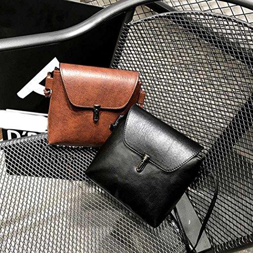 BZLine® Mädchen Frauen Retro Einfache Tasche Mini Crossbody Umhängetasche Braun