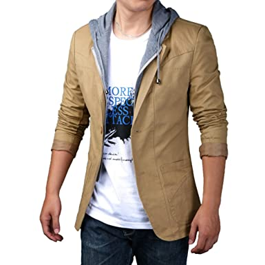 YiLianDa Herren Sportliche Sakko Jacket Slim Fit Blazer Anzugjacke Business  Übergröße Anzug Kurzmantel  Amazon.de  Bekleidung f3c43b9e0c