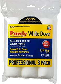 product image for PURDY 14B863000 9 x 3/8-Inch Roll Cover, White, 3-Pack