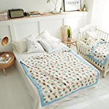 Kids Childrens Quilt Bedding Set Bed Sheet Bedroom Quilts Single Baby Play Mat Warm And Softly Padded Ideal As Blanket Playmat Padding Newborn Blankets Bath Towel Linens (41.33*41.33inch, C Blue Paradise pattern)