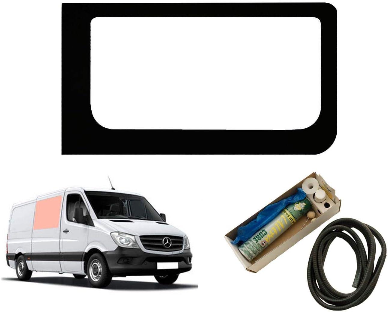 Ventana fija de mano derecha para panel lateral Opp. Kit puerta corredera Mercedes Sprinter (2006 en adelante): Amazon.es: Coche y moto
