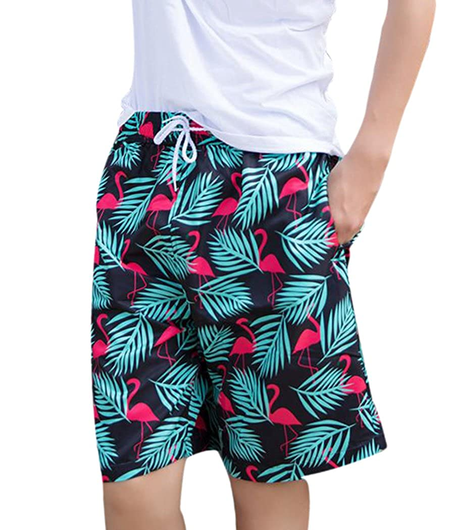 53871269c9 slim fit design; one size up is recommanded if you prefer a looser fit. Mens  Swim Trunks: This Flamingo Bathing Suits For Men Get 6 Size:  S/M/L/XL/XXL/3XL ...