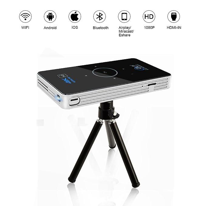 16 opinioni per OTHA 4K Android 5.1 Mini Proiettore, 2GB RAM Portatile DLP LED Home Cinema con