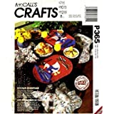 McCall's P365 Sewing Pattern Kitchen Curtains Pot Holder Oven Mitt Placemat