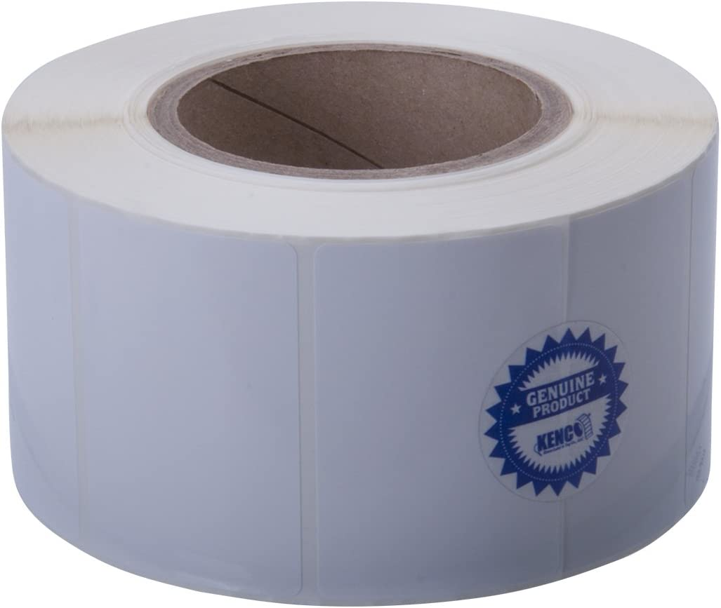 Kenco Premium Inkjet 3 X 2 Rectangle High Gloss Paper Roll-Fed Inkjet Labels Supplied 1250 Labels on a 3 core. Compatible with Primera Color Label Printers and Many Other Printer Brands