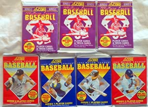 100+ Vintage Baseball Cards Lot In Sealed Unopened Wax Packs. Look for the Mickey Mantle or Joe DiMaggio Signed Cards. 1991 1992 Score