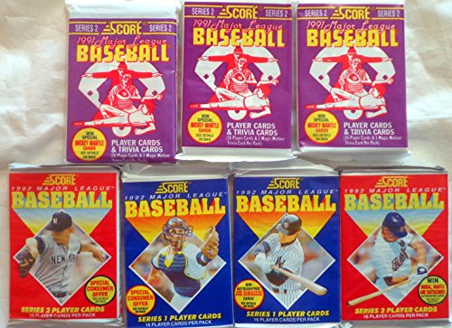 100+ Vintage Baseball Cards Lot In Sealed Unopened Wax Packs. Look for the Mickey Mantle or Joe DiMaggio Signed Cards. 1991 1992 Score (Donruss Card 1992)