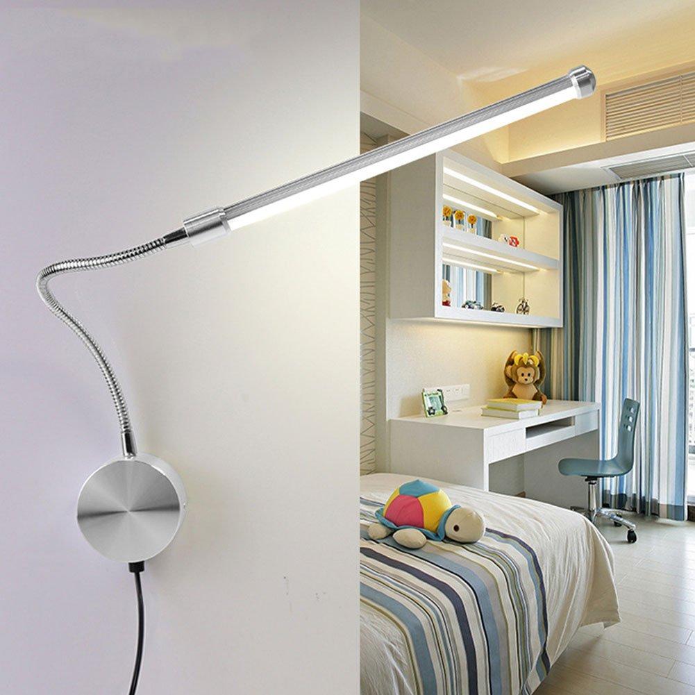 AOKARLIA LED Hose Wall Lamps/Bedside Light, Simple Reading Lamp/Light Adjustable Reading Room Lights,Purple