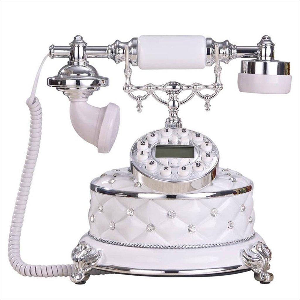 電話ヨーロッパレトロ電話家庭用ダイヤモンド固定電話レトロヴィンテージ固定電話25 * 23 * 24cm(3色を選択可能) (色 : A)  A B07DBWKRFM