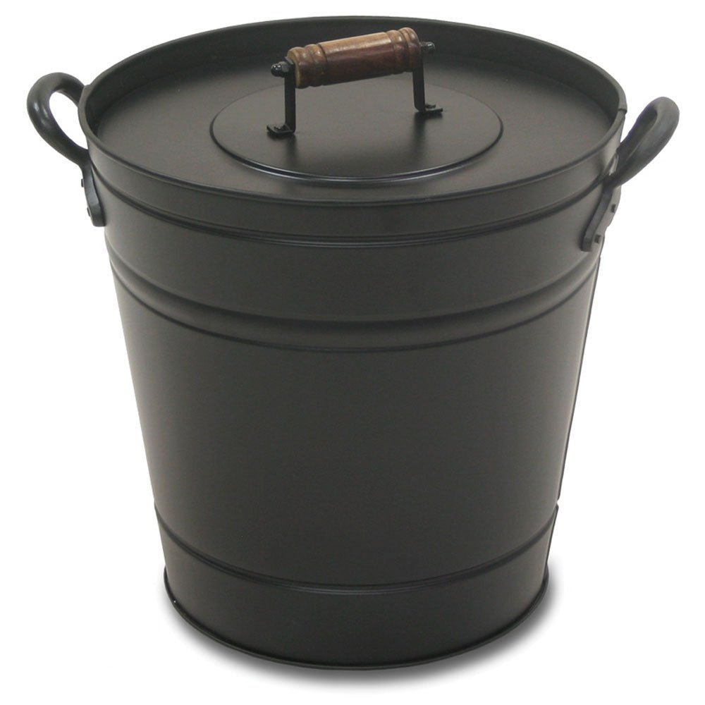 Pilgrim Home and Hearth 19504 Air Insulated Ash Bucket, 14.75″D x 12.25″W x 13″H, 7 lbs, Black by Pilgrim Home and Hearth