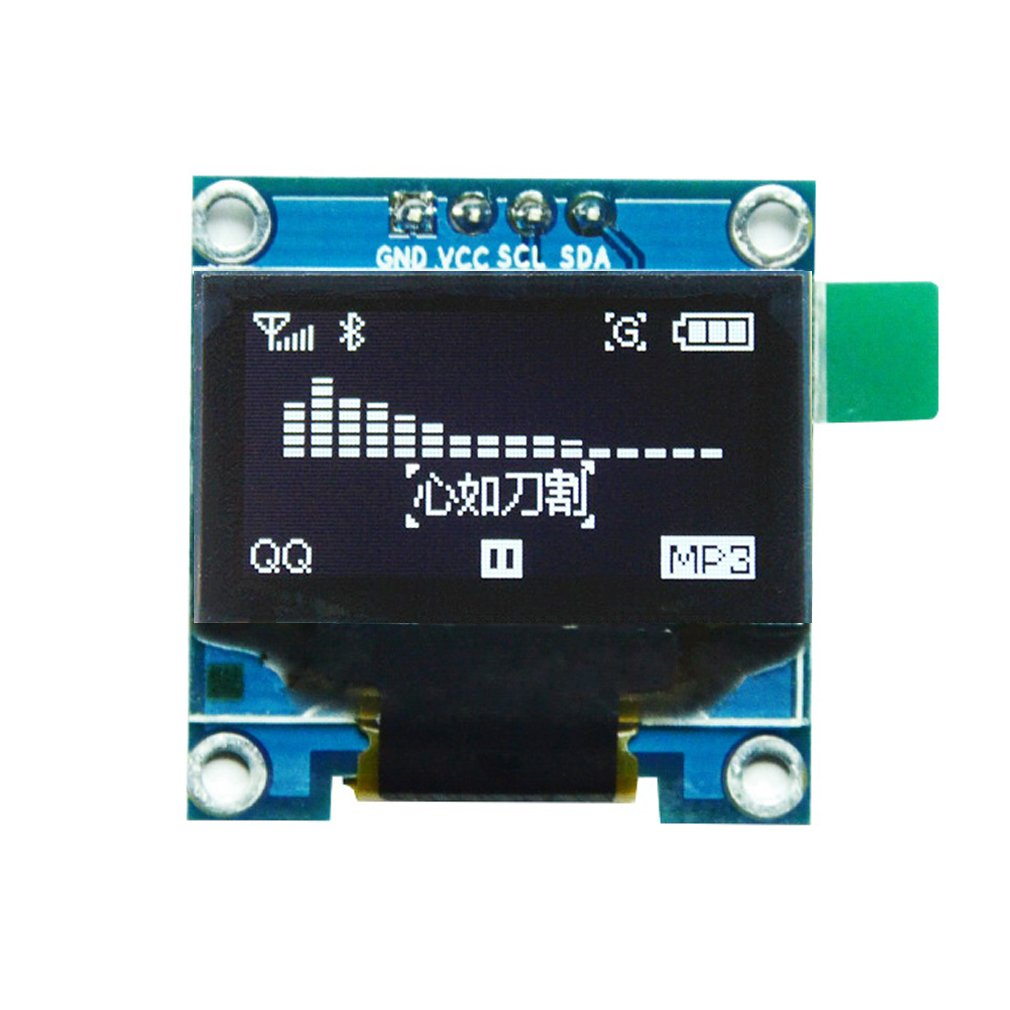 HiLetgo 0.96' I2C IIC Serial 128X64 OLED LCD Display 4 Pin Font Color Blue