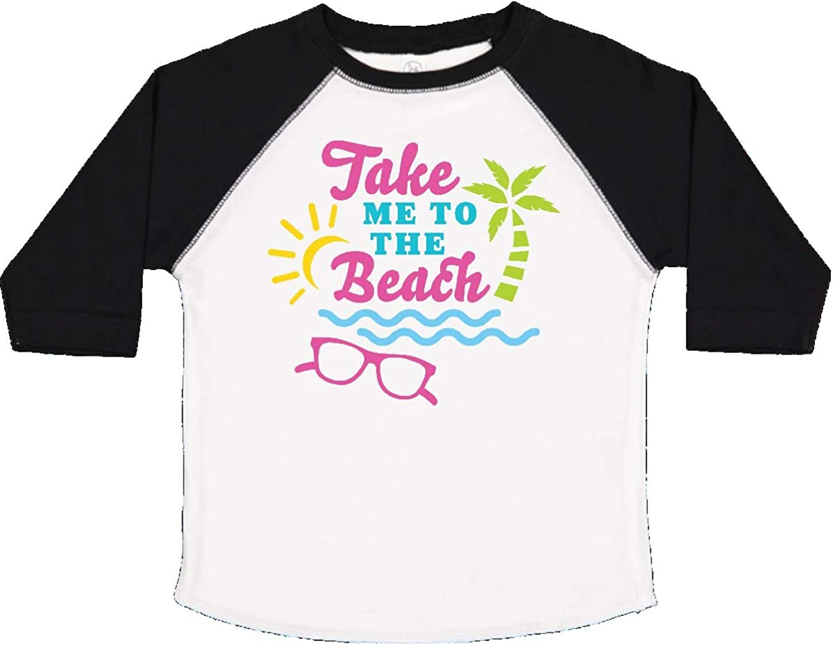 inktastic Take Me to The Beach with Sunglasses and Palm Trees Toddler T-Shirt