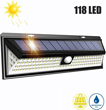 LTPAG Lamparas Solares LED Exterior, 118 LED Foco LED Solar con ...