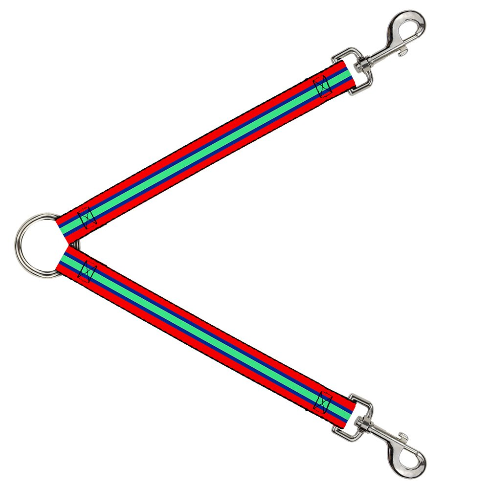 Buckle-Down DLS-W34528 Leash Splitter-Stripes Red bluee Green, 1  W-30  L