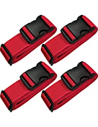 79 Inch Heavy Duty Luggage Straps for Suitcase with ID Label Adjustable