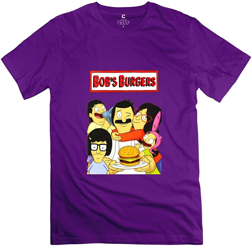 Xuruw Men Bob's Burgers Cartoon O Neck T-Shirt Custom