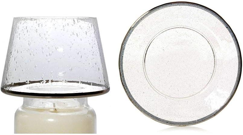 YANKEE CANDLE, Paralume Kensington a Forma di Piatto Grande in Vetro Trasparente